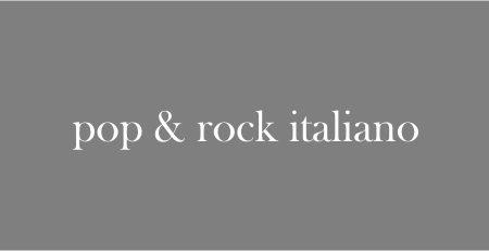 pop & rock italiano